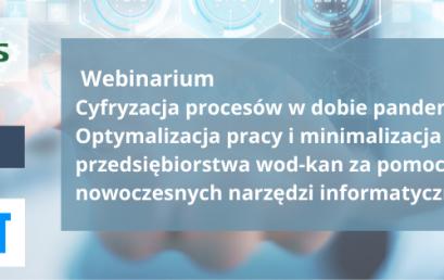 """Webinarium """"Cyfryzacja procesów wdobie pandemii"""""""
