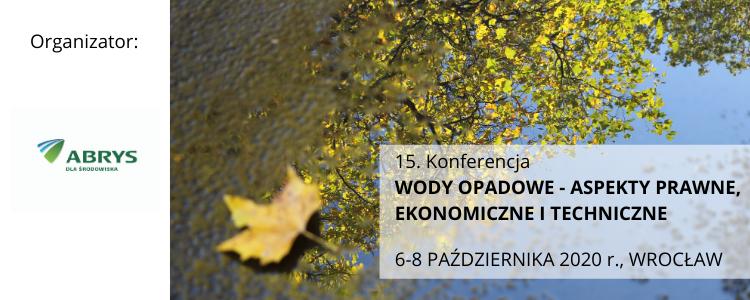 15. konferencja Wody Opadowe